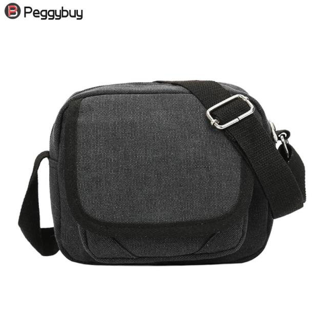 43a30e5346 Men Shoulder Canvas Waist Bag Zipper Casual Crossbody Bag Simple Large  Capacity Messenger Bag Boy Square Shoulder Crossbody Bag