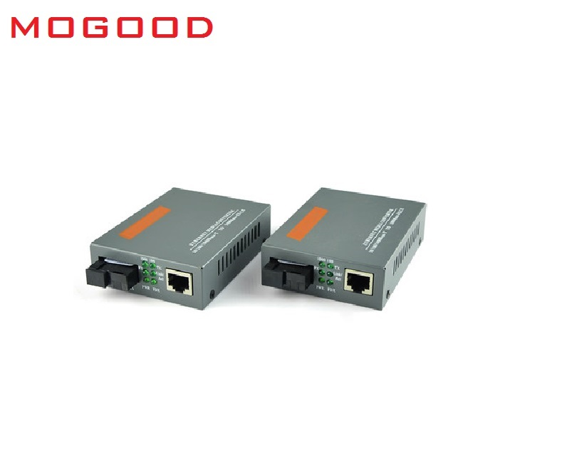 MoGood 10M/100M/1000M Single Mode Single Fiber Fiber Optical Media Converter SC Port 25KM, 10M/100M/1000M RJ45,GS-03-20KM-AB new single fiber single mode optical transceiver 10 100m 1000mbps sc port 20km 2ch fiber 8ch rj45 fiber optical media converter