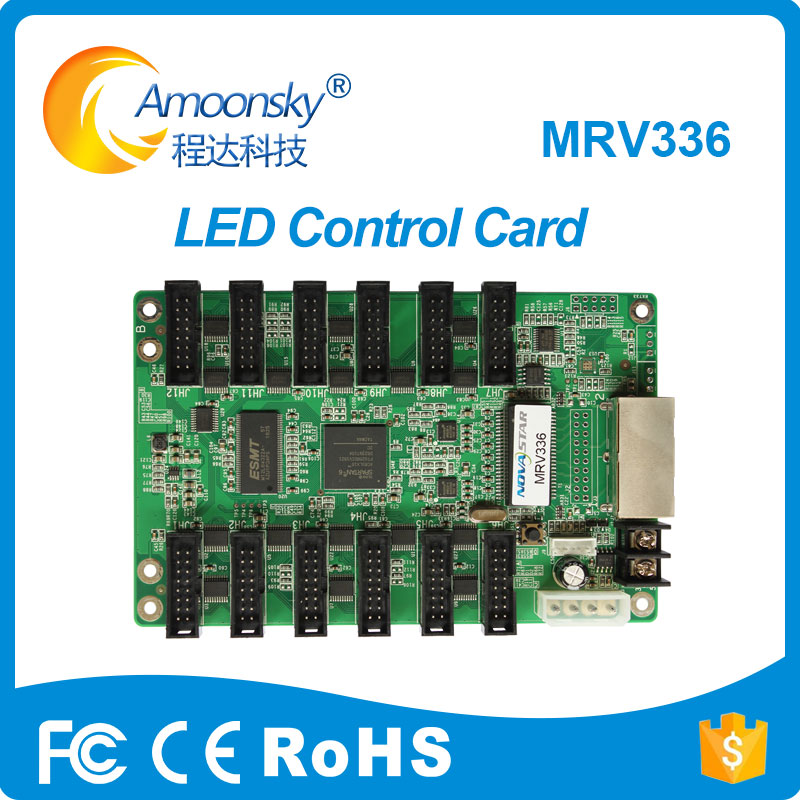 MRV336 Full Color LED Video Display Receiving Card Synchronous P2 P3 P4 P5 P6 Led Dsiplay Recerving Control Cards Hub75 Port