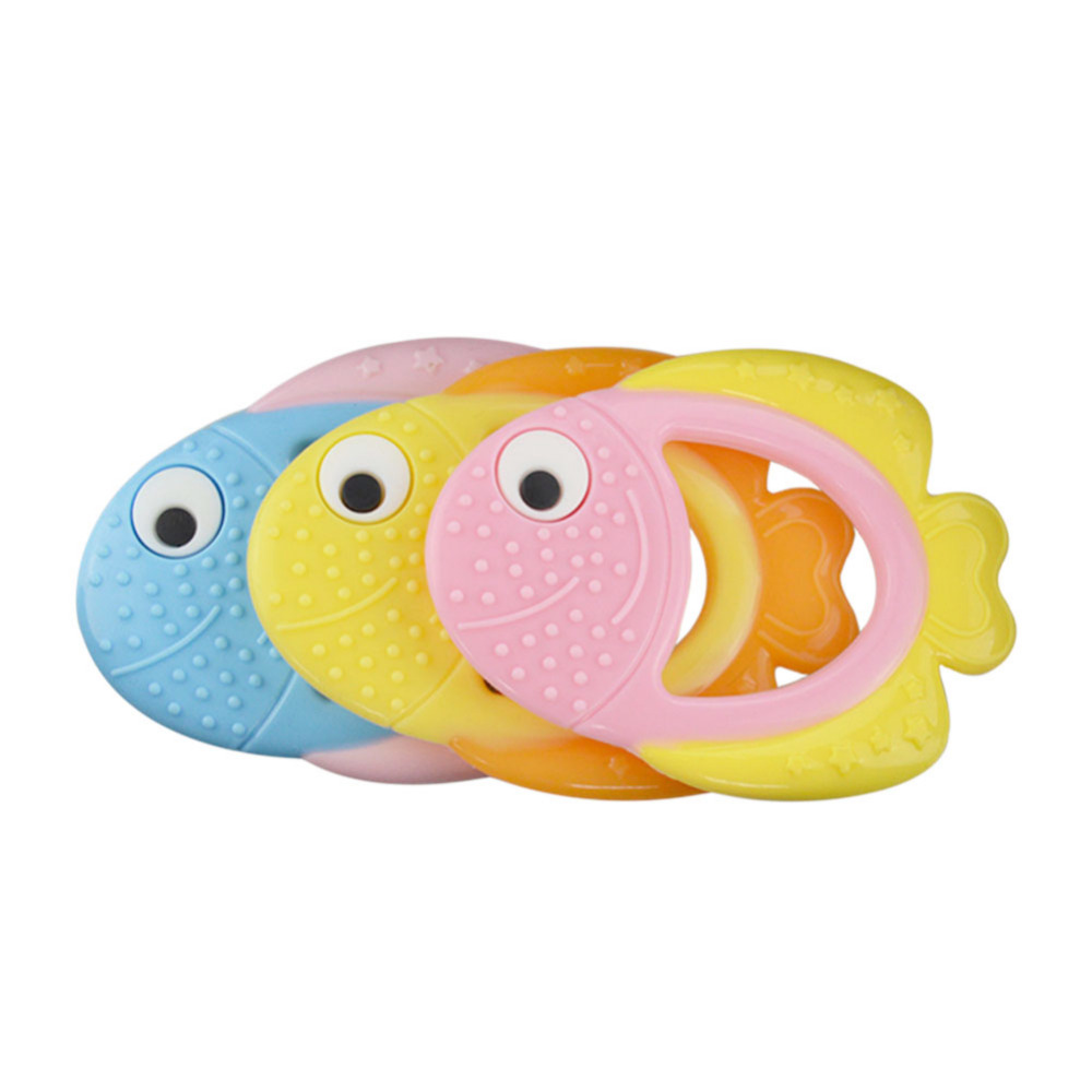 Fish shaped teether for Baby fish food