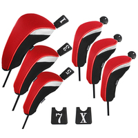Andux Golf Club Head Cover Set Interchangeable No. Tag (3 Hybrid Cover+3 Wood Cover) MT/ZH01