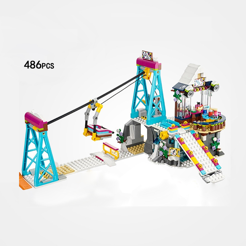 Hot my good friends girls club holiday Snow Resort Ski Lift building block mia Olivia figures bricks 41324 toys for kids gifts