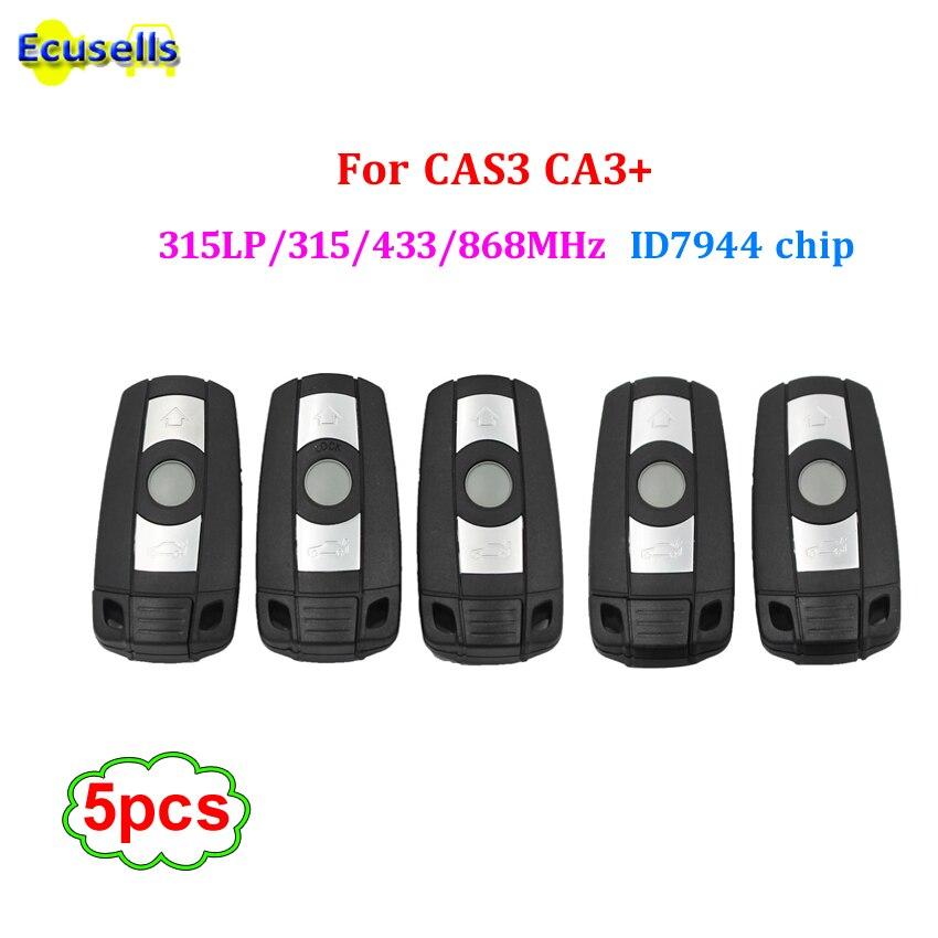5PCS LOT 3 Buttons Remote Key 315LP MHZ 315MHZ 433MHZ 868MHZ for BMW 1 3 5