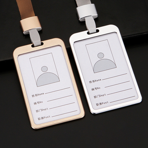 1pcs High quality Aluminium Alloy Card Holder Employee Name ID Card Cover Metal Work Certificate Identity Badge ID Business Case