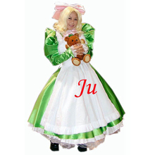 Free Shipping Sexy Sissy Maid Satin Dress Lockable Uniform Cosplay Costume Tailor-made