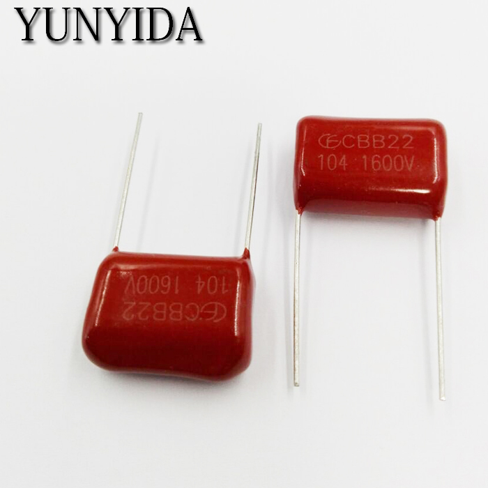 Free Shipping 10pcs, CBB 104J  1600V  0.1uF  P20mm  Metallized Film Capacitor  1600V104J 104 1600V