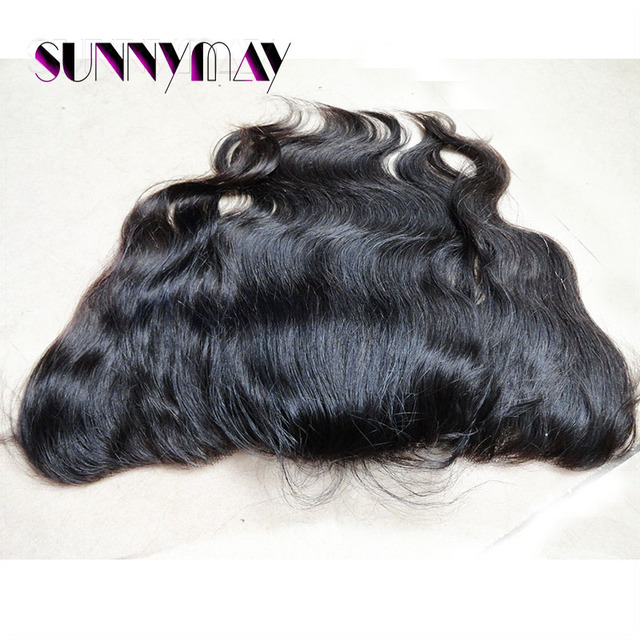 Sunnymay Hair #1b Color Indian Remy Hair Lace Frontal Body Wave Bleache Knots Cheaper Lace Frontal (13x4) Stock