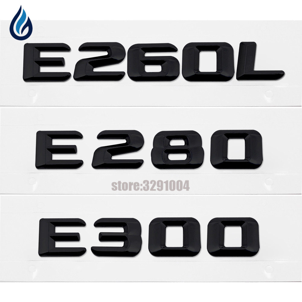 For Mercedes-Benz W115 W123 W124 W210 W211 W212 W207 E-Class E260L E280 E300 Rear Lid Emblem Badge Number Words Letters Sticker gt2256v turbo charger cartridge for mercedes benz e class 270 cdi w210 m class ml 270 cdi w163 om612 core assy chra 715910
