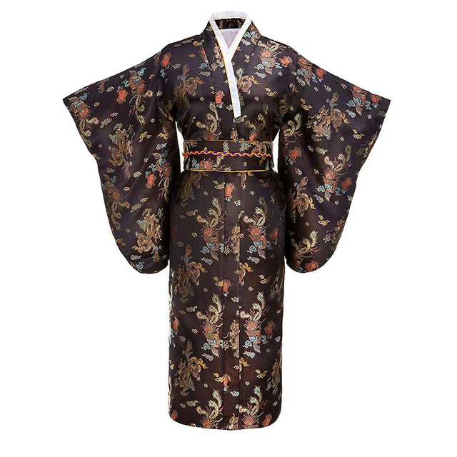 44e67c7f7 Vintage Women Kimono Traditional Japanese Robe Printed Casual Bathrobe Girl  Cosplay Costume Geisha Night Dress Gown One Size