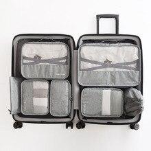 Koffer organizador de maleta de alta calidad, conjunto de 7 unidades, organizador de equipaje, organizador de lavandería, bolsa de embalaje, bolsa de almacenamiento para ropa