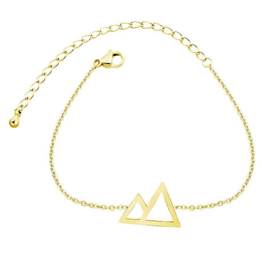 Ручная цепочка ювелирное изделие браслет из нержавеющей стали для женщин