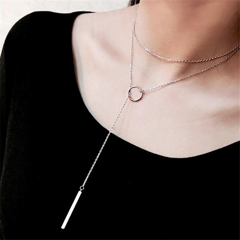 H26 Новая мода сердце лист луна кулон ожерелье из хрусталя женские праздничные пляжные массивные ювелирные изделия - Окраска металла: x205-Silver