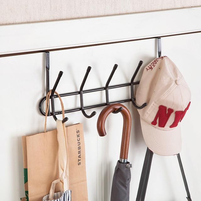 Behind Door Hangers Hooks Creative Clothes Hanging Hoods Kitchen Seamless Storage Rack