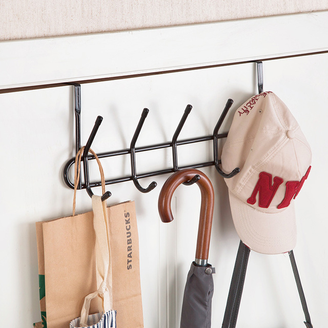 Pakaian Menggantung Di Belakang Pintu Gantungan Kait Kreatif Kerudung Dapur Mulus Penyimpanan