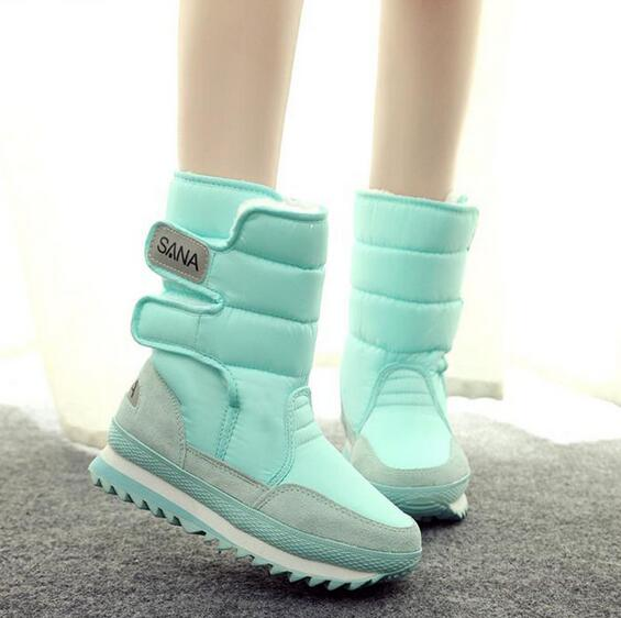 2016 new winter candy colors thickening shoes women snow boots thermal shoes women s boots slip