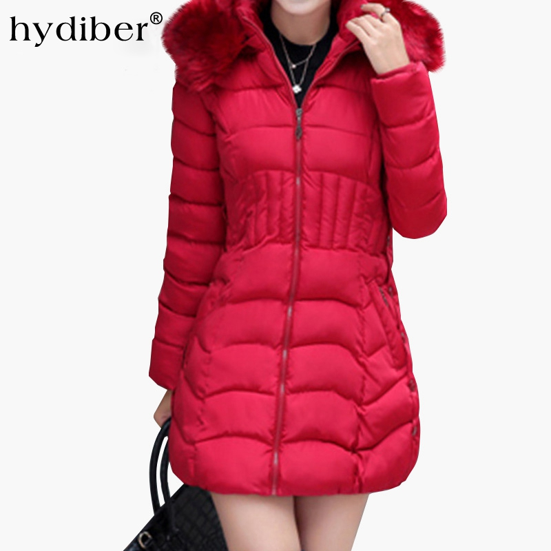 2016 Plus Size New Arrive Warm Down & Parkas Long Sleeve Button Zipper Long Style Outwear Thick Winter Jacket Women Coat