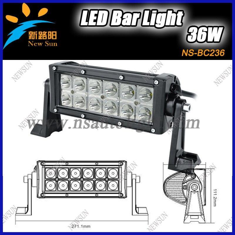 ФОТО 2013 Hottest Super bright IP67 automotive led light bar auto led bar lights 36W 7.5