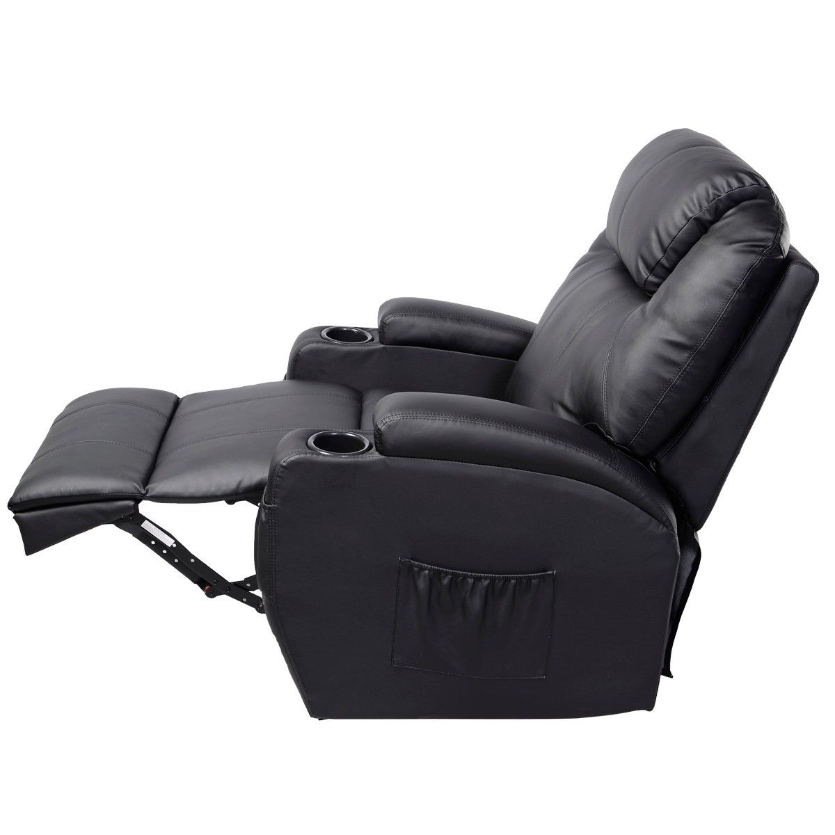 Giantex Electric Massage Chair Leather Recliner Sofa Chair Modern