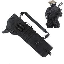 Tactical Shotgun Scabbard Holster Molle Rifle Sling Case Bag Rifle Backpack for Outdoor Hunting Long Gun Shoulder Bags 19tactical ak rifle scabbard molle bag military shoulder sling padded shotgun holster backpack
