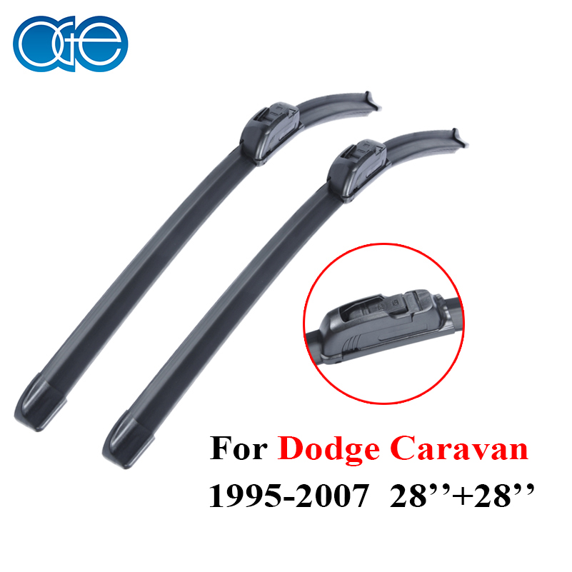 """Prix pour Oge Lames D'essuie-glace Pour Dodge Caravan 1995-2007 Paire 28 """"+ 28R"""" Pare-Brise En Caoutchouc de Silicone De Voiture Auto Accessoires"""