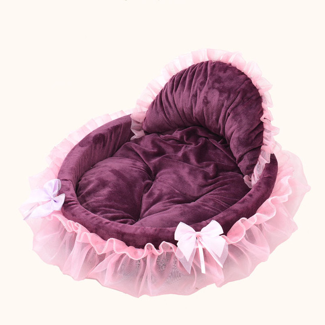 Princess Style Cat Bed with Bows