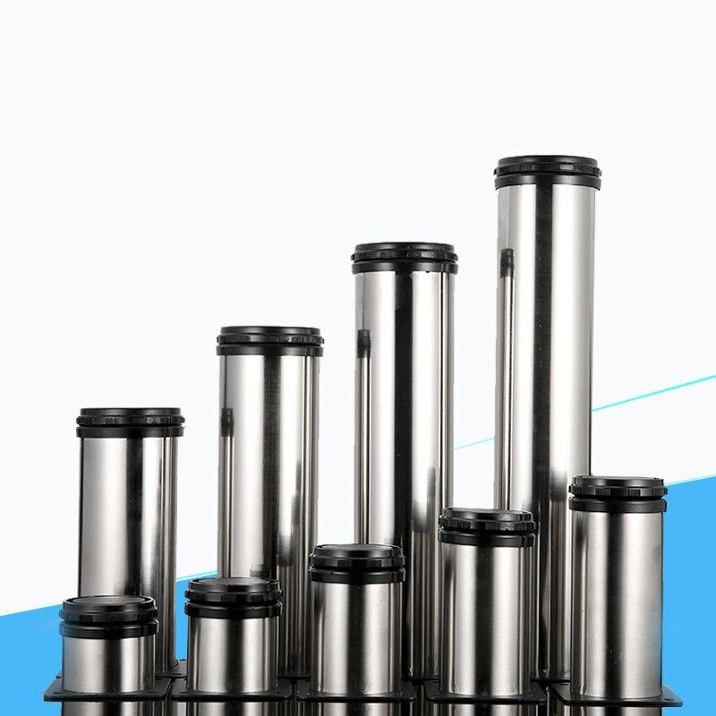 4/2Pcs Stainless Steel Furniture Legs Adjustable50 60 80 100 120 150 180 200 250 300mm Cabinet Table Sofa Bed Feet Legs