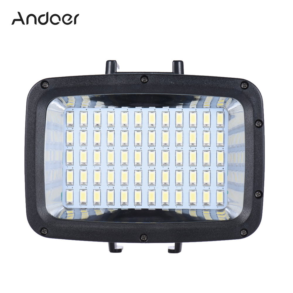 Andoer Ultra Bright 1800LM 3 Modes Waterproof Fill in Light Video Studio Photo for GoPro Hero