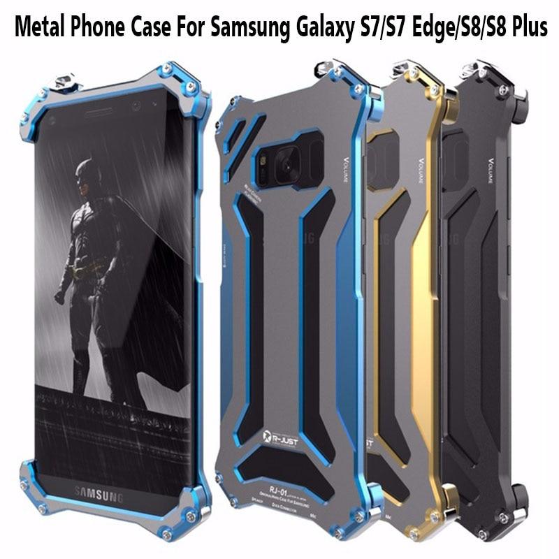 2017 S8 Más Caja R-JUST Casos Del Teléfono Celular Del Metal de Parachoques de A
