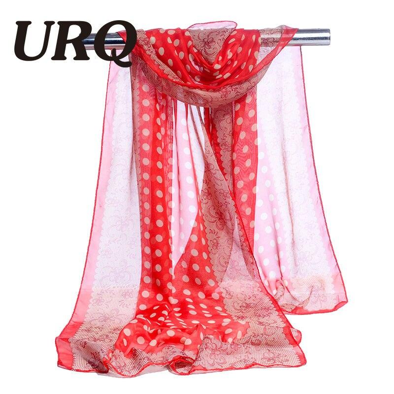 bufanda de gasa estampado de punto y encaje bufanda de mujer seda - Accesorios para la ropa - foto 6