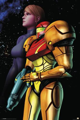 METROID SAMUS SPACE Silk Poster Wall Decor Room Painting 24X36Inch image