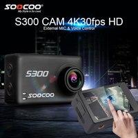 SOOCOO S300 4 k экшн Камера с Hi3559V100 + IMX377 и 2,35 Сенсорный экран EIS внешний микрофон с Wi Fi и дистанционным управлением Водонепроницаемый Спортивная в