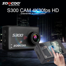 """SOOCOO S300 4k Action Camera with Hi3559V100 + IMX377 and 2.35"""" Touch Screen EIS External Mic Remote Wifi Waterproof Sport Cam"""