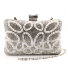 Women Brand Bag White Acrylic Pearl Shoulder Bag Hardcase Handbag font b Clutches b font Wedding