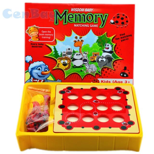 Niños Ladybug memoria entrenamiento juego Montessori patrón Tarjeta de aprendizaje padre-niño ajedrez juguetes interactivos regalos