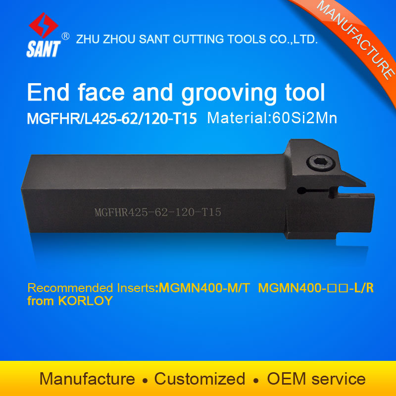 China Cnc Cutting Tools Grooving Tool Holder MGFHR425-62-120-T15 With Korloy Inserts MGMN400-M Selling Hot In Abroad