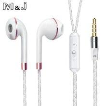 M&J Wired Earphone For iPhone 6s 6 5 Xiaomi Hands free Headset Bass Earbuds Stereo Headphone For Apple Earpod Samsung earpiece