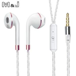 Image 2 - M & j com fio fone de ouvido para iphone 6s 6 5 xiaomi mãos livres fone de ouvido baixo fones estéreo para iphone samsung