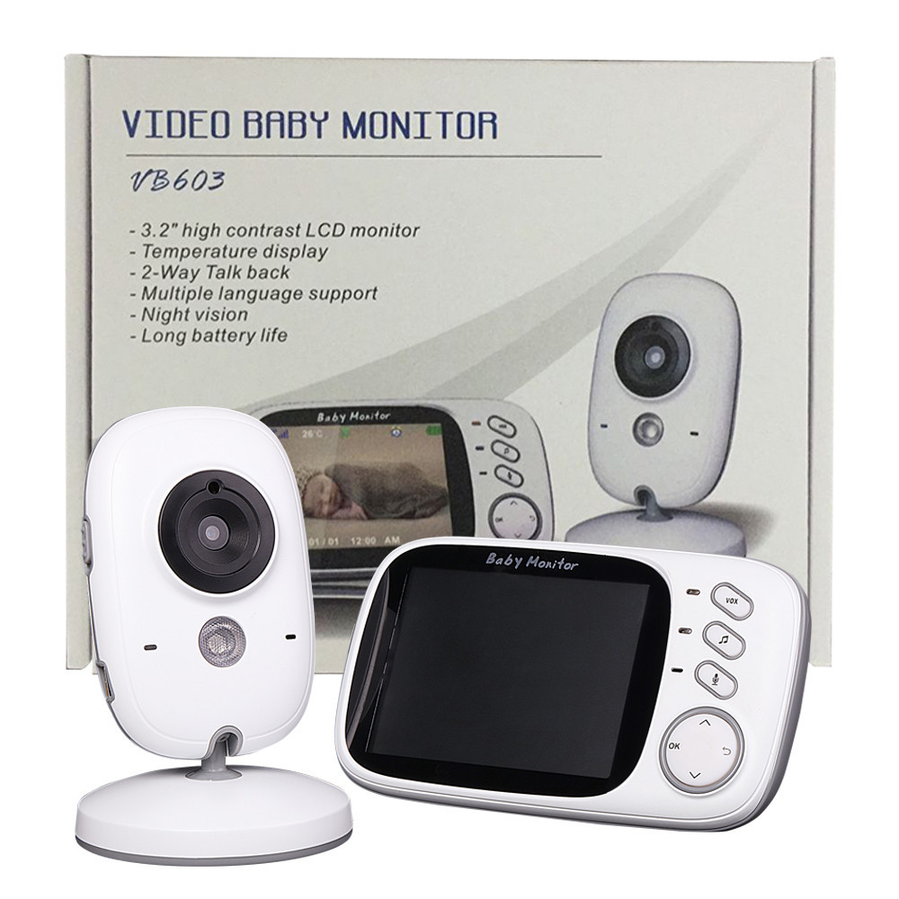 New baba electronics radio babysitter 3 2 inch LCD IR Night vision 2 way talk 8lullabies