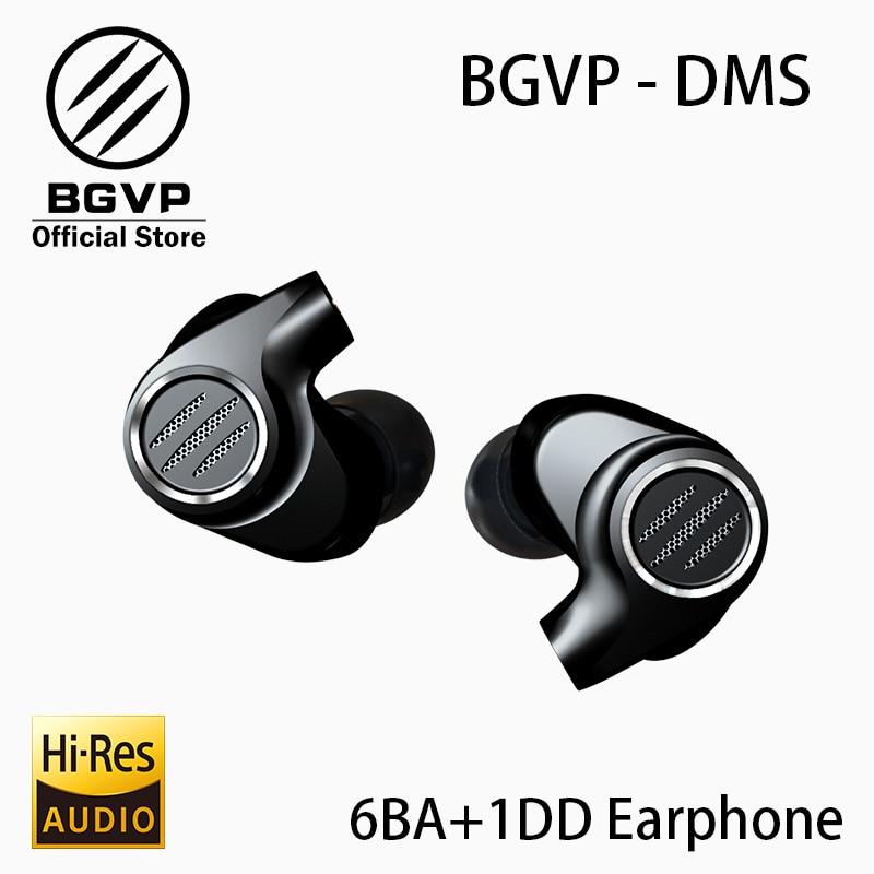 BGVP DMS HIFI Hybrid Earphone In Ear Monitors New 2019 6BA Balanced Armature Driver High Resolution MMCX