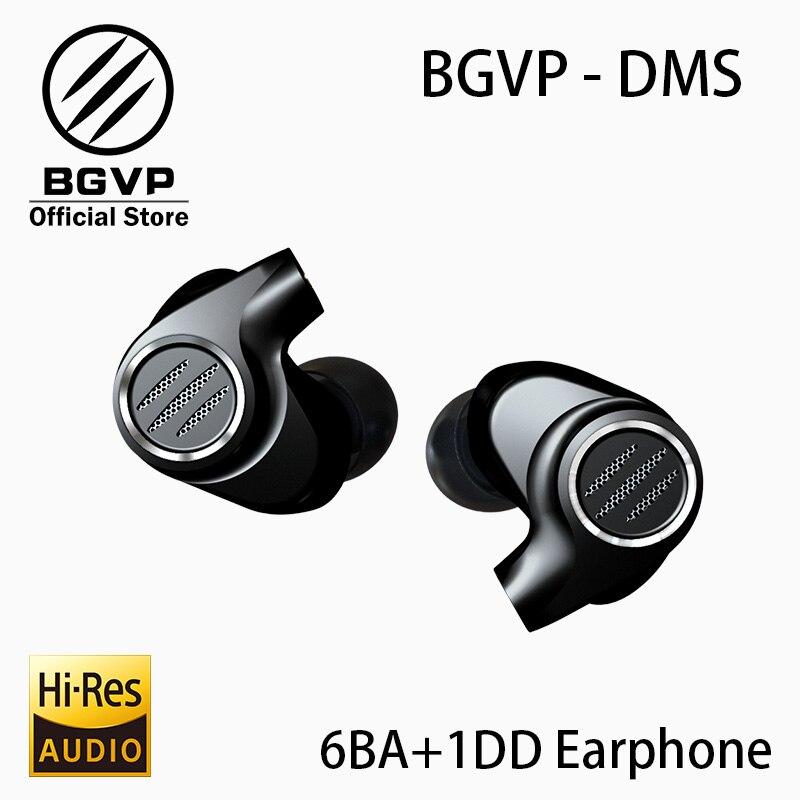 BGVP DMS HIFI hybride écouteur dans l'oreille moniteurs nouveau 2019 6BA équilibré Armature pilote haute résolution MMCX