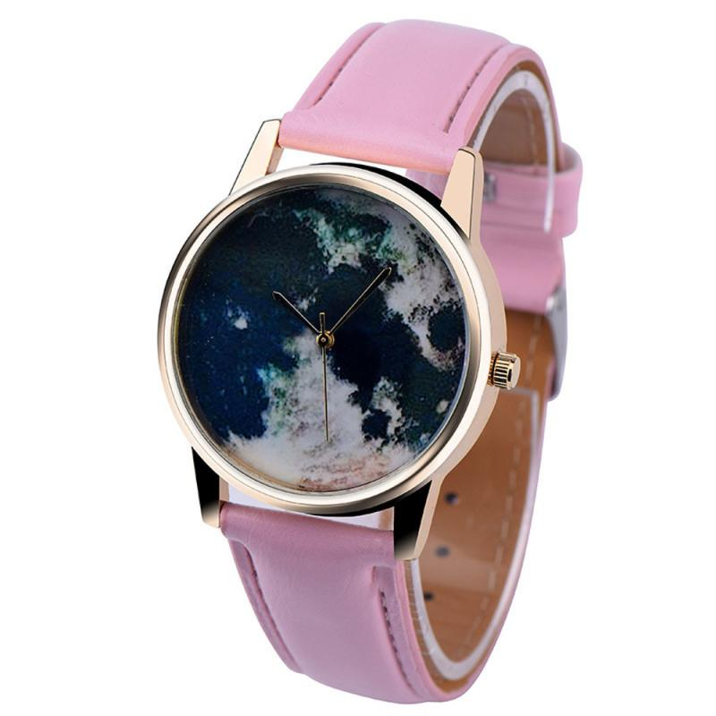 High Quality Ladies Watch Women Curren Women Watches Global Travel By Plane Map Women Dress Watch Denim Fabric Band BK 40p
