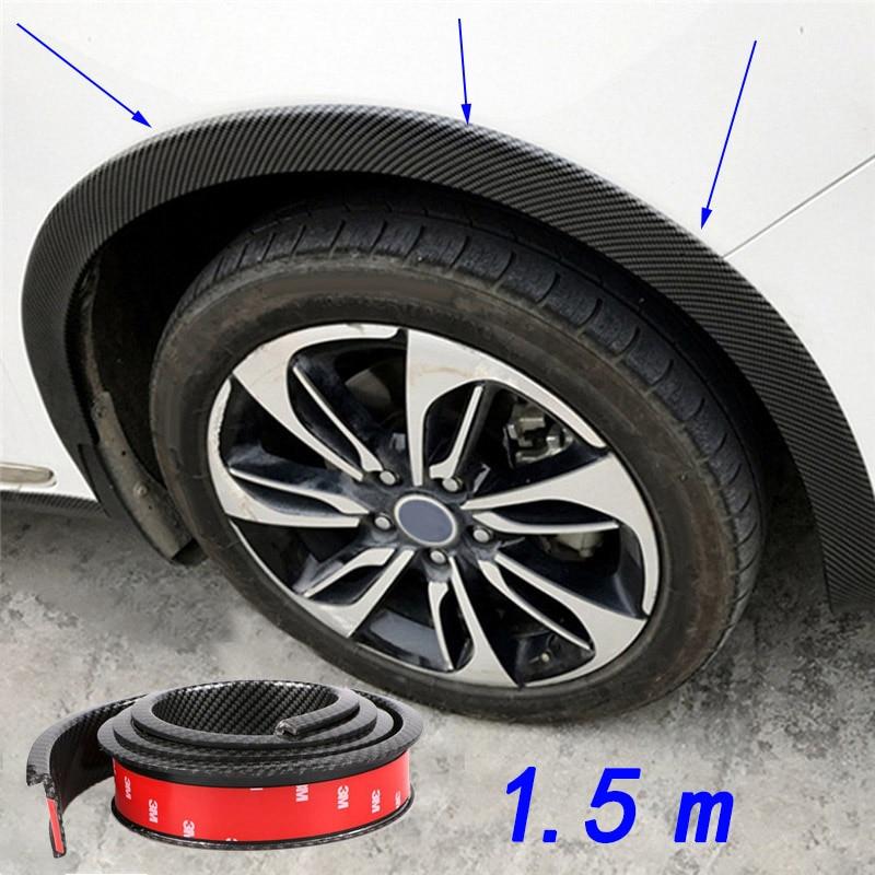 2Pcs 1.5M Universal Car Rubber Wheel Arch Protection Moldings Mudguard Door Trim