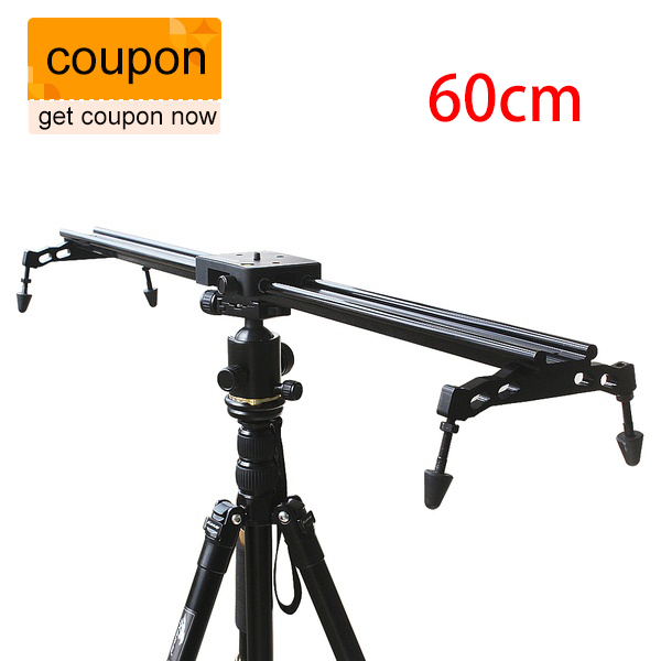 Commlite Sliding-pad Video Track Slider Dolly Slider Video Stabilizer System for DSLR, Camcorders 60cm 24'' new professional 60cm 24 bearing video track slider dolly stabilizer system for dslr camera camcorder better than sliding pad