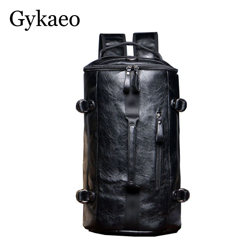 Multifunctional Bag Backpack Bag 3 Functions Shoulder Bags Hand bag Soft PU Leather Waterproof Men Travel Duffel Package Tote multifunctional pu leather zipper decor shoulder bag