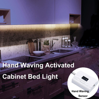 IR Infrared Hand Waving Activated Motion Sensor Led Night Light Soft Flexible Strip Light Automatic Bed
