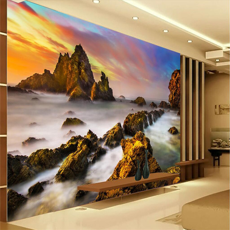 Beibehang Custom Wallpaper 3d Decoration Photo Background Photography Rock  Beach Landscape Hotel Decoration Painting In Wallpapers From Home  Improvement On ...