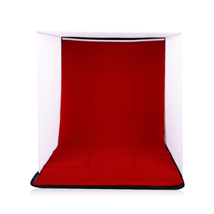 Image 5 - CY in stock 50cm Portable Mini Folding Studio Photography backdrop Foldable Softbox with 4 color Backgound Soft box and Lightbox