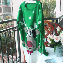 New Ugly Women party Christmas Sweaters Lovely reindeer Christmas Snowflake Patterned