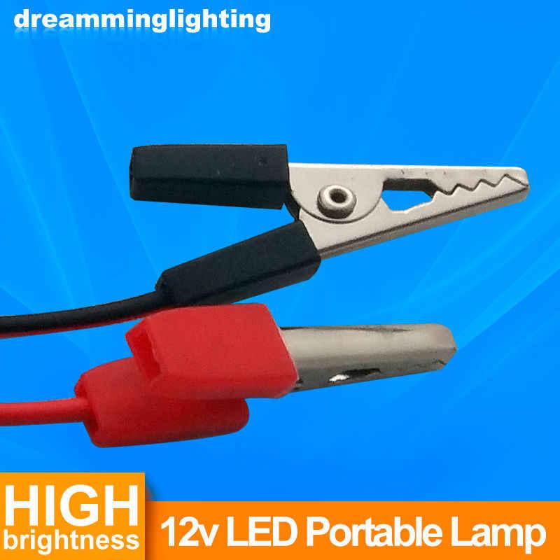 12V DC Led-lampe SMD 5730 Tragbare Lampe Außen Camp Zelt Nacht Angeln Hängende notfall licht mit Krokodil Haken 3W 5W 7W 9W