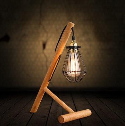 Madeira Vintage Metal lâmpada De Mesa em estilo Loft Industrial Edison lâmpadas De mesa, Luminaria Abajur lâmpadas De Mesa Luminaria De Mesa